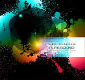 PArty Club Flyer for Music event with Explosion of colors — Stok Vektör
