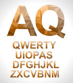 Modern alphabet with triangle texture inside. — Stock Vector