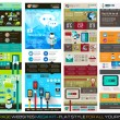 One page website flat UI design template SET 1. — Stock Vector #49208277