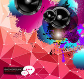 PArty Club Flyer for Music event with Explosion of colors — Vecteur