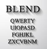 Modern gölge etkisi ile klasik alfabe — Stok Vektör