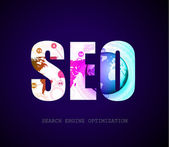 Seo arama motoru optimizasyonu kavramı — Stok Vektör
