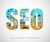 SEO Search engine optimization concept — Stock Vector
