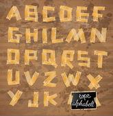 винтажном стиле алфавит — Cтоковый вектор