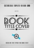 Minimal modern book cover template — Stock Vector