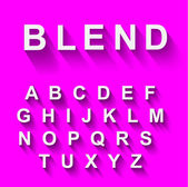 Classic alphabet with modern shadow effect — Vetorial Stock