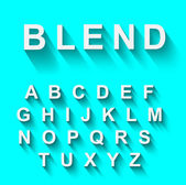 Classic alphabet with modern shadow effect — Cтоковый вектор