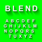 Classic alphabet with modern shadow effect — Stockvektor