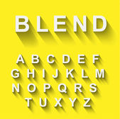 Classic alphabet with modern shadow effect — Vector de stock