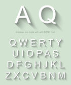 Classic alphabet with shadow effect — Stockvektor