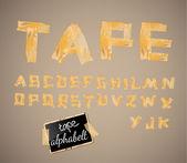 复古风格字母表 — 图库矢量图片