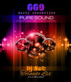 Music Themed background to use for Disco Club Flyers  — Vector de stock