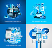 Flat Style Infographic UI Icons to use for your business project — Stock Vector