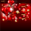 Elegant Red and Gold Valentine's Day Flayer — Stock Vector #6719271