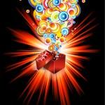 Birthday or Christmas Gift Card — Stock Vector #6721469
