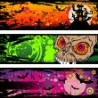 Halloween Grunge Style Banners With Horror Elements — Stock Vector #6722732
