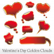 Hearts and Clouds stickers — Stock Vector #6766635