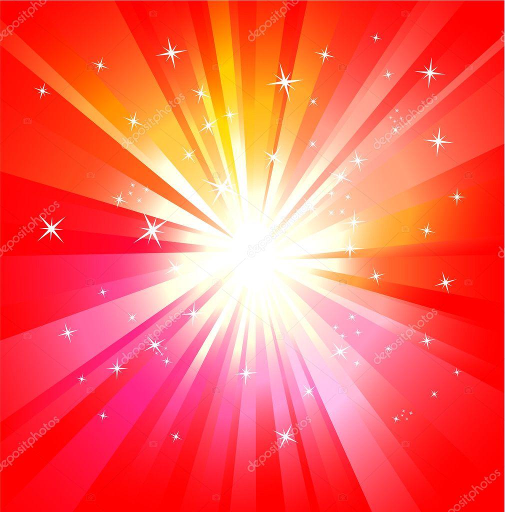 有很多颜色的魔法灯爆炸