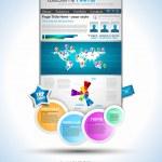 Complex Origami Website - Elegant Design — Stock Vector #8762745