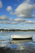 One Small Boat, Padstow Harbour, UK. — Stock Photo