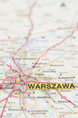 Map of Warsaw City. — Stock Photo