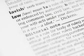 Macro Dictionary Word: Law. — Stock Photo