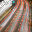 Royalty-Free Stock Photo: Light Trails on Busy Road.