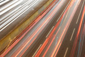 Light Trails on Busy Road. — Stock Photo