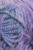 Macro Photo of Purple Wool. — Stock Photo