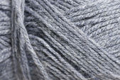 Macro Photo of Grey Wool. — Stock Photo