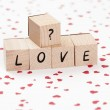 Stock Photo: Word Love With Question Mark.