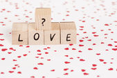 The Word Love With Question Mark. — Stock Photo