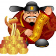 2013 Chinese Money God With Snake And Scroll Wishing Prosperity — Stock Photo #12454643