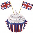 Royalty-Free Stock Vector Image: United Kingdom England Cupcake with Flag Illustration