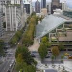 Vancouver bc centrala stadsbilden Visa — Stockfoto
