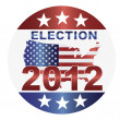 Election 2012 Button Illustration — Stock Vector