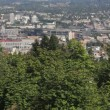 Stock Video: Panning Scenic View of Portland Oregon Cityscape