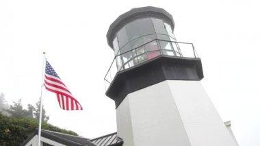 Cape Meares Lighthouse in Oregon Coast 1080p — Stockvideo