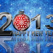2013 Happy New Year Snowflakes Ornament Illustration — 图库照片