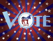 Vote Democrat Red White and Blue Stars Background — Stockvektor