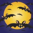 Halloween Flying Bats Illustration — Stock Vector