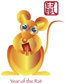 Año nuevo chino del zodiaco rata — Vector de stock