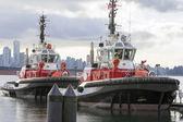 Tug Boats at Vancouver BC Harbor — Stock Photo