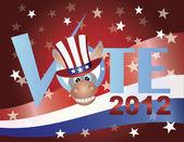 VoteDemocratDonkeyV — Stock Photo