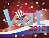 Vote Republican Elephant Illustration — Stock Vector