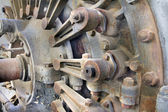 Old Hydroelectric Power Plant Turbine Closeup — Stock Photo