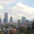 Portland Oregon Downtown City Skyline in Fall -  