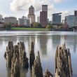 waterfront de Portland oregon — Foto Stock