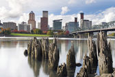 Portland Oregon Waterfront in Autumn — Stock Photo