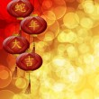 Chinese New Year Snake Lanterns with Blurred Background — Stock Photo #14199994